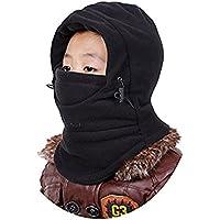 ZZLAY Sombrero de los pasamontañas de los niños de espesor térmico a prueba de viento de esquí ciclismo máscara de cara capucha cubierta de la tapa ajustable