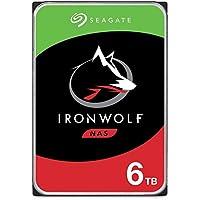 Seagate IronWolf NAS ST6000VN001 - Disco Duro de 6 TB, 3,5 Pulgadas, SATA, 6 GB/s, 256 MB, 5400 r.p.m.
