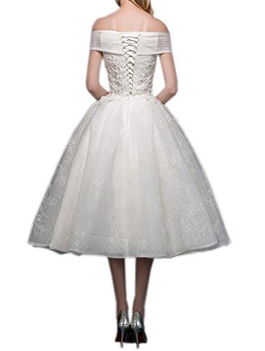 Ikerenwedding Damen A-Linie Kleid Small Weiß ...
