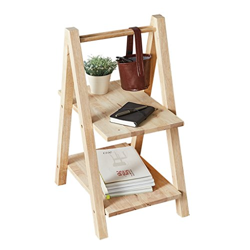 Solide étagère en bois créatif multifonctionnel salon canapé côté intérieur double stockage rack fleur stand