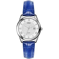 Ladies casual leather strap quartz watch