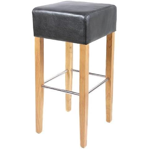 SixBros. Sgabello Bar Bistro in legno faggio massiccio nero - BAR-02-BS/14