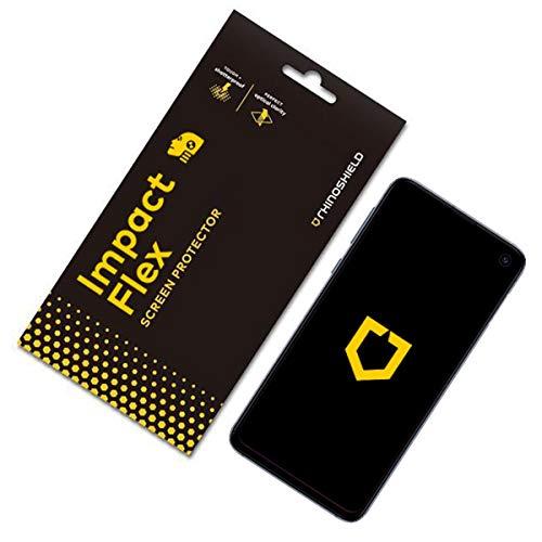 RhinoShield Protection écran pour Samsung Galaxy S10 [Anti-Chocs Flex] Film Protecteur Haute qualité - Technologie Dispersion des Chocs - Transparence 99% et résistance aux Rayures/Traces de Doigts