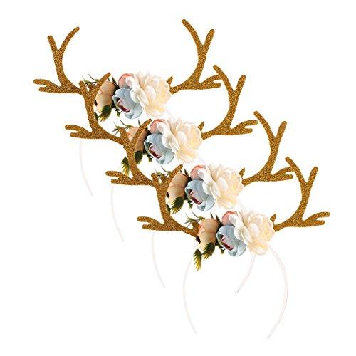 Erwachsene Kinder Weihnachten Hirschgeweih Kostüm Ohr Party Haar Stirnband Prop (Ohr-kostüm)