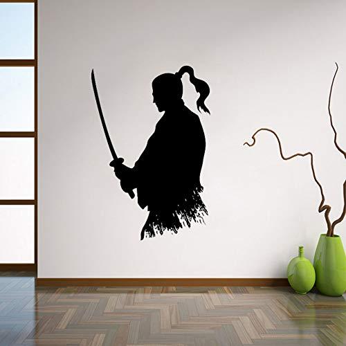 a Wandtattoo Ninja Vinyl Aufkleber Japanischen Wohnkultur Ideen Wohnzimmer Interieur Wandkunst Schlafzimmer Wand Dekor 56X82Cm ()