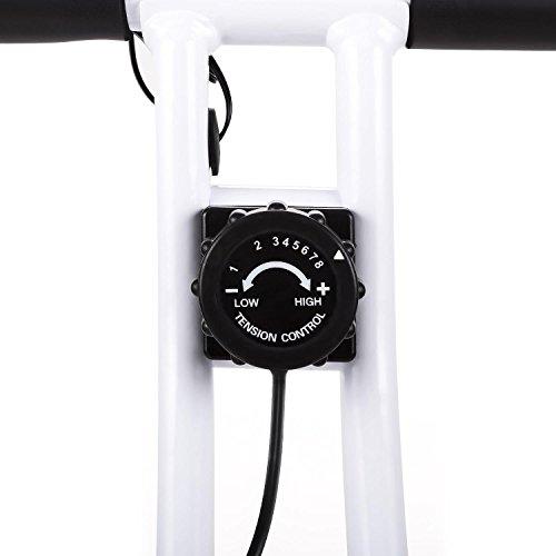 41ALDwylqTL. SS500  - Klarfit Azura Comfort • Ergometer • Home Trainer • Fitness Bicycle • Cardio Bike • Training Computer • Pulse Meter • 8-step Adjustable Resistance • 3kg Flywheel • Backrest