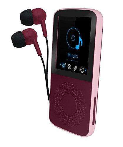 Sytech SY789RJ - Reproductor MP3/WMA/MP4 con Bluetooth, podómetro y pantalla de 1.8