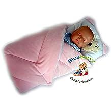 BlueberryShop Cálida Velour Sábana con una Almohada Manta Edredón Saco de Dormir Regalo del Bebé Algodón