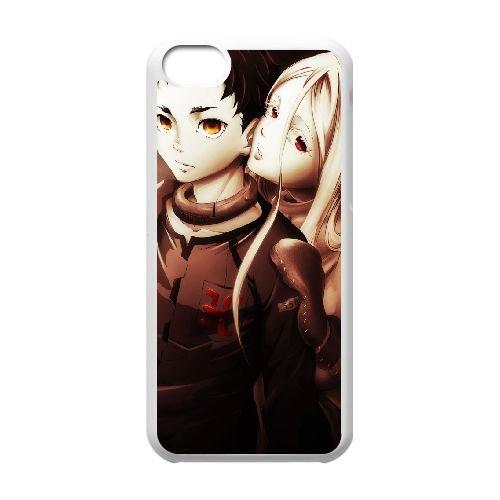 Deadman Wonderland coque iPhone 5C Housse Blanc téléphone portable couverture de cas coque EBDXJKNBO12639