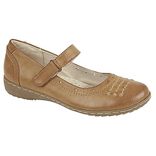 boulevard-scarpe-mary-jane-con-chiusura-a-strappo-donna-40-eu-marrone-chiaro