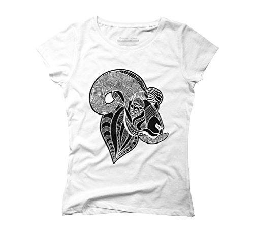 Ram Women's Graphic T-Shirt - Design By Humans White
