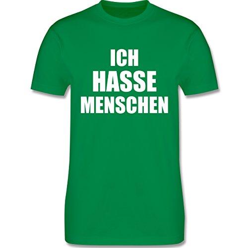 Shirtracer Statement Shirts - Ich Hasse Menschen - Herren T-Shirt Rundhals Grün