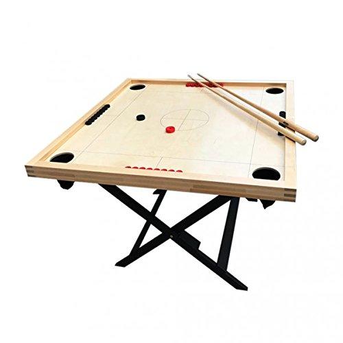 Novus Table Game Koroona Sea Billiard Pool Full Set 4 Cues 32 Pucks Stand