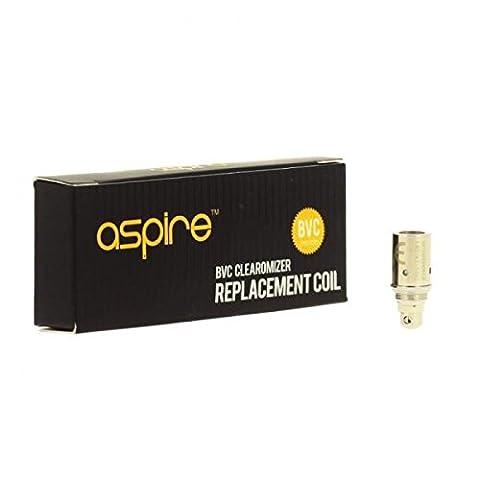 Sans Nicotine - Pack 5 Resistances Aspire BVC 1.8Omh Sans