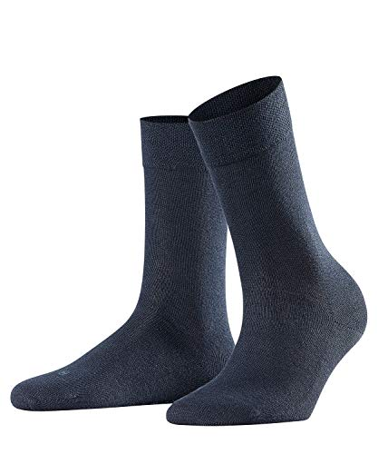 FALKE Damen Socken Sensitive London, 94% Baumwolle, 1 Paar, Blau (Dark Navy - Tennissocken Falke Damen