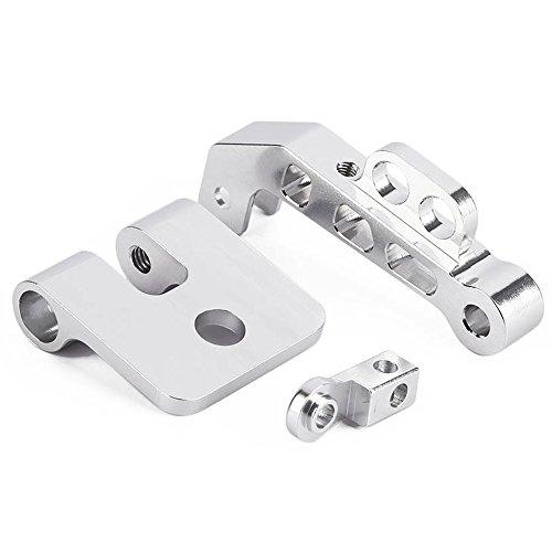 CNC-Aluminiumlegierung FPV-Monitor-Halterung Halter für 7-Zoll-8-Zoll-RC Sender Silber - 5