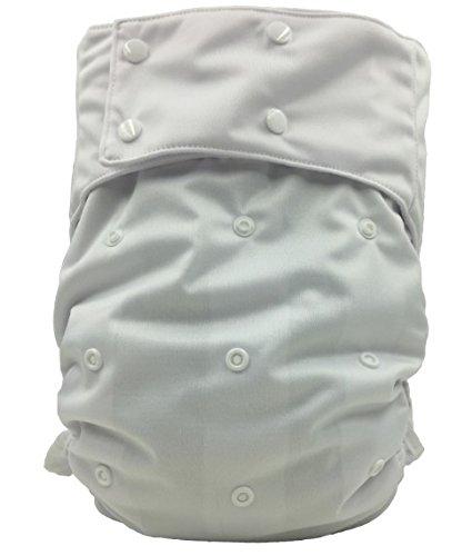 """2er Pack - Waschbare Erwachsenenwindel """"Einheitsgröße"""" Windelhose mit Auslaufschutz, Weiß"""