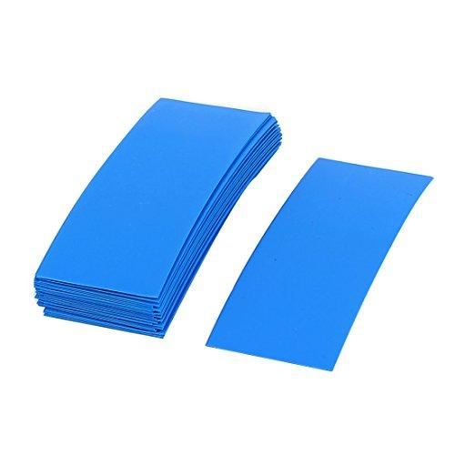 Preisvergleich Produktbild Sourcingmap 30Stück 72mm x 18,5mm PVC Schrumpfschlauch blau für 1x 18650Batterie