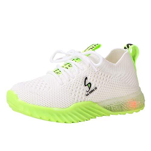 Allence LED Leuchtende Baby Mädchen und Jungen Kleinkind Mode Stern Leuchtendes Kind Bunte helle Schuhe Kinder Schuhe mit Licht Blinkende Turnschuhe für Kinder -
