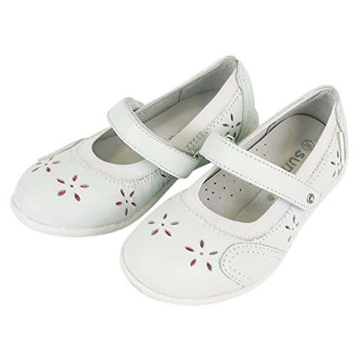 Kinderschuhe für Mädchen Ballerina Leder Sommer (6937) Weiß
