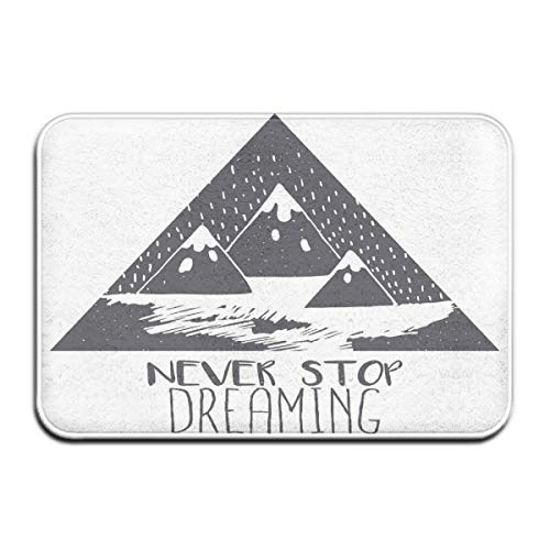 Memory Foam Bath Mat Non Slip Absorbent Super Cozy Plush Bathroom Rug Carpet,Grungy Vintage Motivational Snowy Mountain Tops Illustration With Blizzard Effects,Decor Door Mat 23.6 X 15.7 Inches