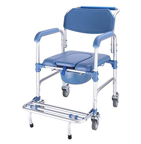 HKNC Healthcare Alluminio Piegato Doccia Sedia da Toilette,Sedia da Toilette Rimovibile per Anziani e Disabili Sedia Vasino