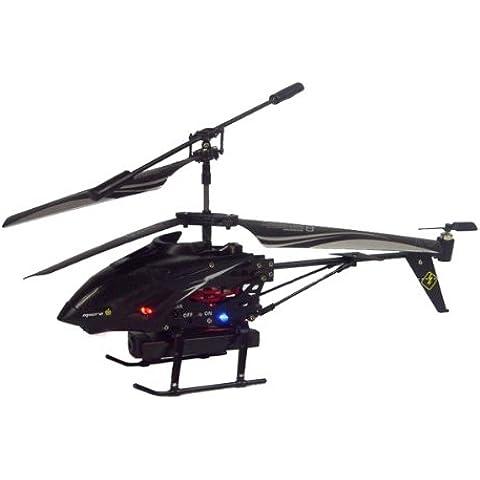 Tera® S977 - Helicóptero Radio Control (3.5 ch RC) con Cámara Integrada, negro