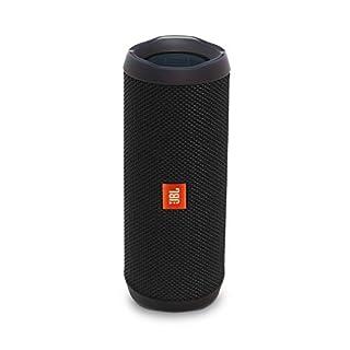 JBL Flip 4 Bluetooth Box in Schwarz (Wasserdichter, tragbarer Lautsprecher mit Freisprechfunktion & Alexa-Integration - Bis zu 12 Stunden Wireless Streaming mit nur einer Akku-Ladung))