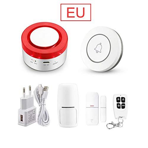 2-in-1 WIFI Intelligent Gateway Sound Licht Smart Wi-Fi Alarm Host Bewegungsmelder Smartphone IP-Kamera Wireless LAN Home Protection System Kit - Einfache DIY-Einrichtung Diy Wireless-alarm-kit
