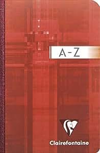 Clairefontaine 9599C Répertoire broché 192 pages petits carreaux couverture pelliculée 90 g 9 x 14 cm Couleur Aléatoire