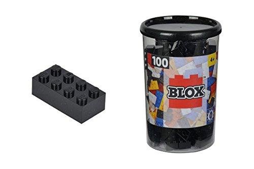 Simba 104118916 - Blox Steine in Dose, Konstruktionsspielzeug, 100, schwarz