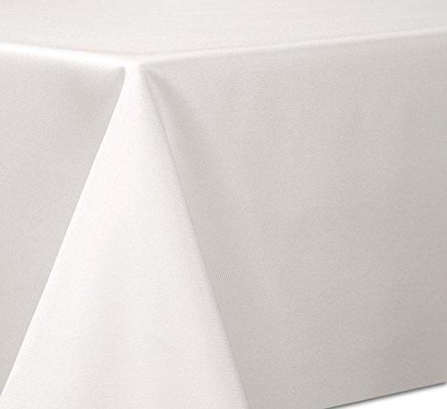 Bügelfreie Tischdecke in Leinen Optik mit Lotuseffekt, Eckig Oval Rund Größe und Farbe wählbar, (Eckig 90x90 cm Creme), Beautex (Leinen Runde 90 Tischdecke)
