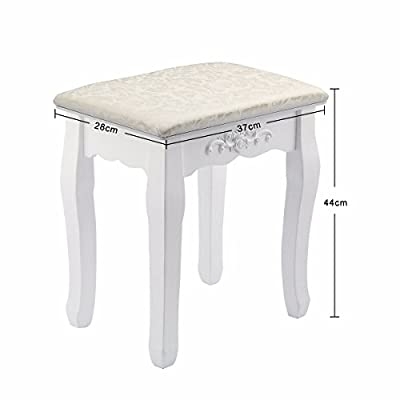 SZ5CGJMY ® Vintage Stool Dressing Table Piano Chair Ivory Decor Padded Makeup Seat Baroque produced by SZ5CGJMY - quick delivery from UK.