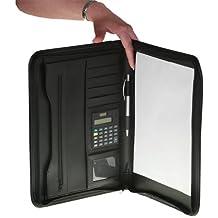 """Portafolios """"Gentle"""" en formato DIN A4, cierre con cremallera, compartimentos interiores, calculadora y libreta"""