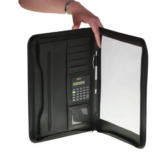 Portfolio Din A4 mit Taschenrechner und Block vielen Fächern die Konferenzmappe ist in der Farbe...