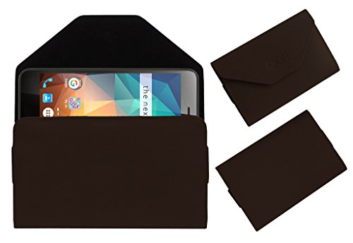 Acm Premium Flip Flap Pouch Case for Xolo Era 2x 2gb Mobile Leather Cover Brown  available at amazon for Rs.179