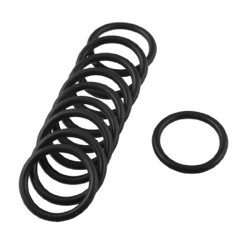 10Stück 28mm x 2,5mm Rubber Oil Seal O Ring Dichtung Waschmaschine Schwarz -