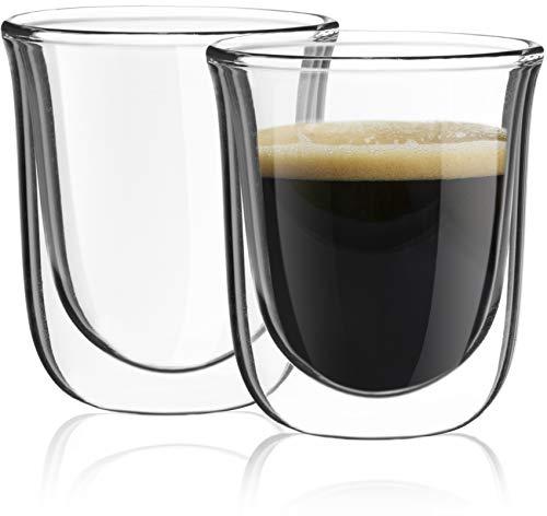joyjolt javaah doppelwandige Espresso-Gläser, Set 2Nespresso Tassen-/Bratenspritze