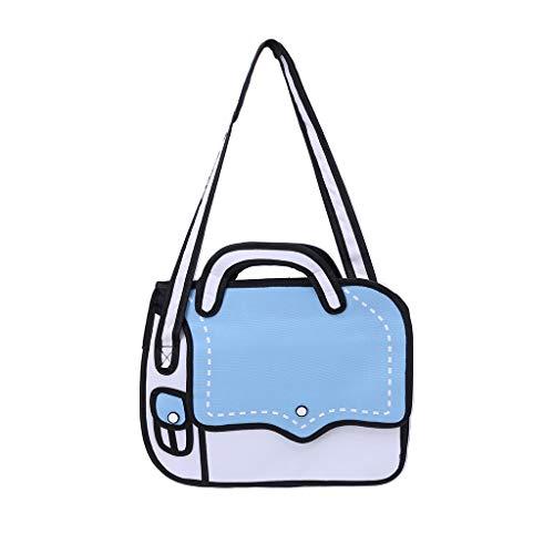 Ludzzi 3D Jump Style Cartoon Papier Umhängetasche Handtaschen Nylon Neuheit Crossbody Geldbörse Tote Satchel Für Frauen Mädchen -