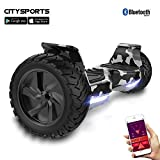 CITYSPORTS Hoverboard Tout Terrain 8.5', Hoverboard Hummer SUV, Bluetooth et APP, 700W
