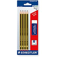 Noris Lápiz Set 5 lápices HB con goma de borrar