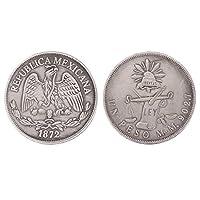 100% nuovo e di alta qualità.Caratteristiche:antico disegno di Antiche monete d' argento messicano.Non si tratta di una vera e propria antica moneta argento, solo una copia.souvenir d' arte e da collezione, regalo di affari decorazione vacanz...