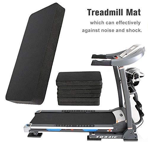 TODAYTOP 6 STÜCKE Dicken Schwarzen Laufband Matte High Density Gummi Trainingsgeräte Matte Fahrrad Ausrüstung Matte für Laufbänder und Ellipsentrainer (7,87 3,94 0,79 in) -