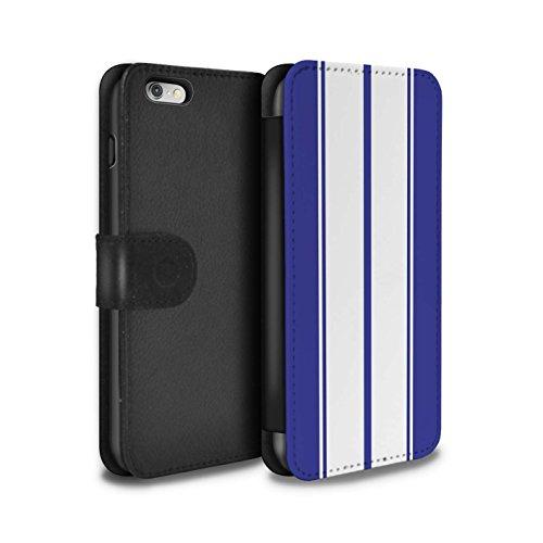 Stuff4 Coque/Etui/Housse Cuir PU Case/Cover pour Apple iPhone SE / Gulf/Bleu Design / Rayures Voiture Course Collection Shelby/Bleu