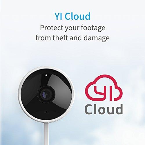 YI Telecamera da esterno Camera IP da Esterno 1080p Videocamera di Sorveglianza Outdoor Impermeabile IP65 Telecamera di Sorveglianza con Audio Bi-Direzionale, Visione Notturna (Bianco) - 6