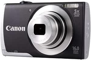 Canon PowerShot A2500 Digitalkamera (16 MP, 5-Fach Opt. Zoom, 6,9cm (2,7 Zoll) Display, bildstabilisiert) schwarz