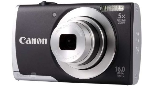 Canon PowerShot A2500 Digitalkamera (16 MP, 5-Fach Opt. Zoom, 6,9cm (2,7 Zoll) Display, bildstabilisiert) schwarz