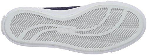 Puma Unisex-Erwachsene Court Star Vulc Suede Low-Top Blau (PEACOAT-puma White 03)