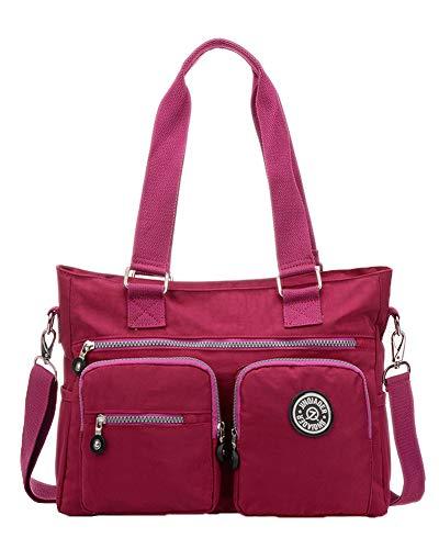 Baby Wickelrucksack Multifunktional Oxford Große Kapazität Babyrucksack Damen Umhängetasche Messenger Bag Lila