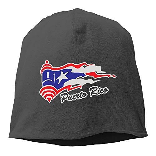 Adult Puerto Rico Flag Hip-Hop Beanie Hat Skull Cap